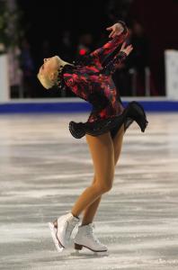 Estonia's Elena Glebova is on again tonight for the women's figure skating free skate.