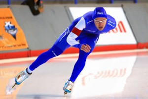 It was close but no cookie for Haralds Silovs in the speed skating heat.