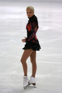 Estonia's Elena Glebova is the sole Baltic figure skater in tonight's women's short competition.